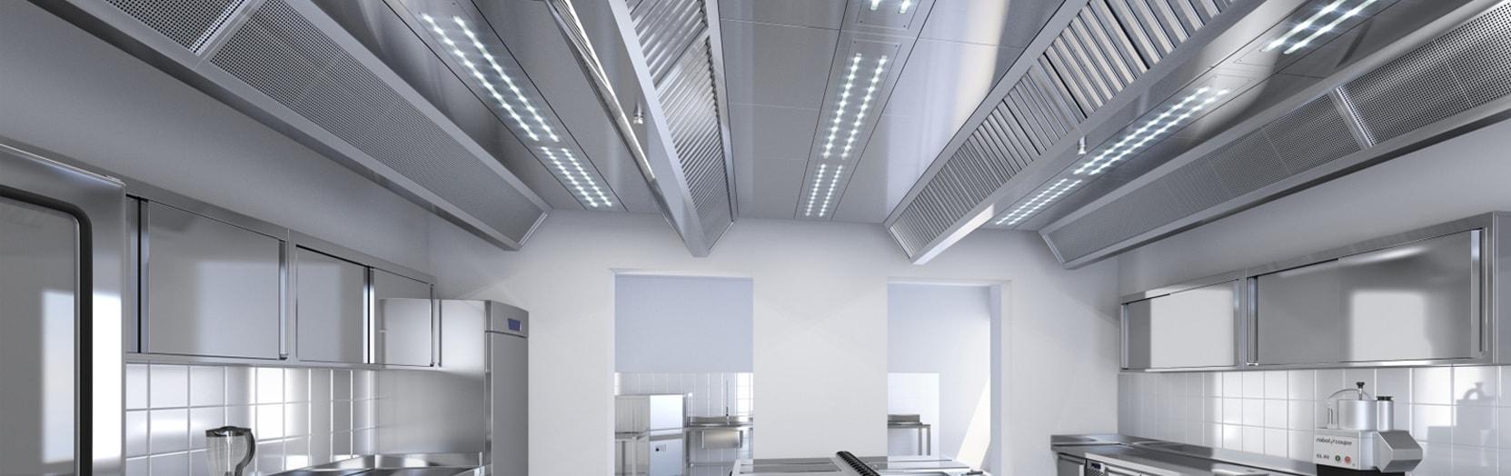 Профессиональная установка вентиляционных систем кухни