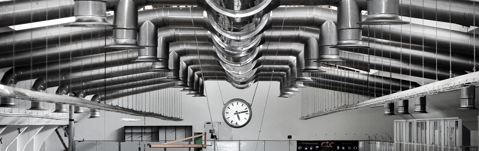 Установка профессиональных систем вентиляции завода